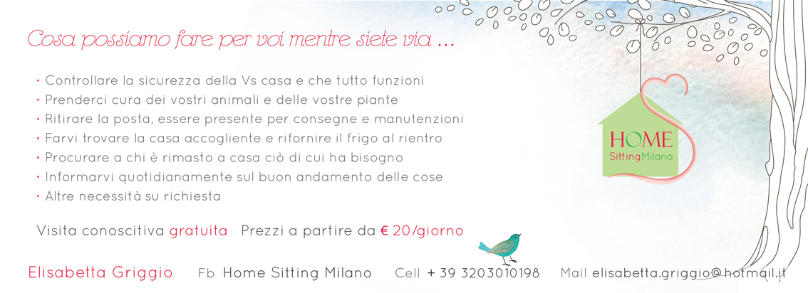 volantino Home Sitting Milano retro