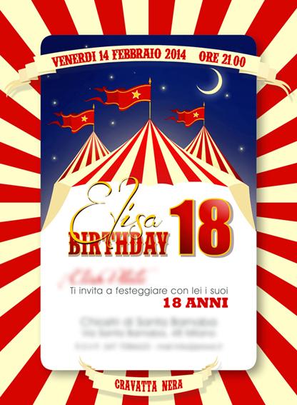 Biglietto compleanno circo