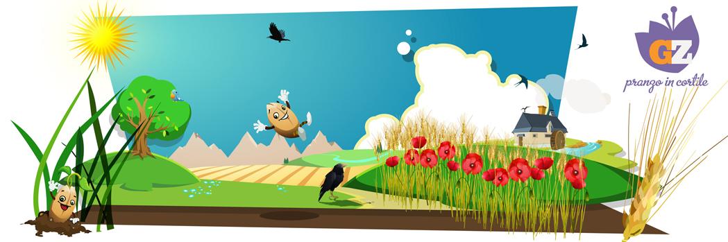 La storia di Chicco di grano | illustrazione digitale per GialloZafferano