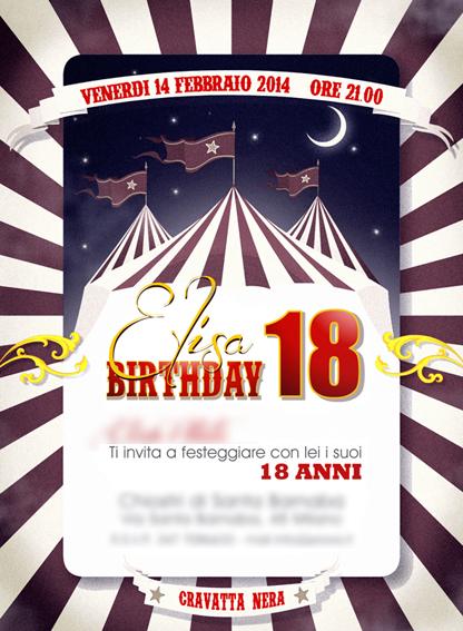 Biglietto compleanno circo18 2